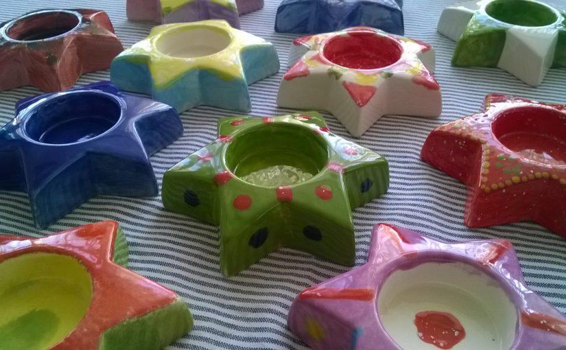 Teelichter aus Keramik